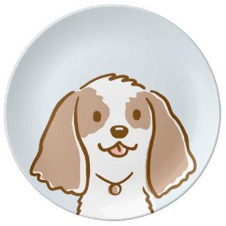 Cocker Spaniel Cartoon Dog Plate