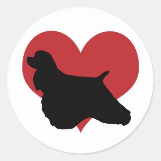 Cocker Spaniel Classic Round Sticker