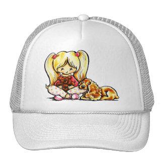 Cocker Spaniel Comforter Off-Leash Art™ Child Art Mesh Hats