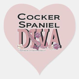 Cocker Spaniel DIVA Heart Sticker