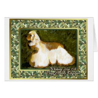Cocker Spaniel Dog Blank Christmas Card