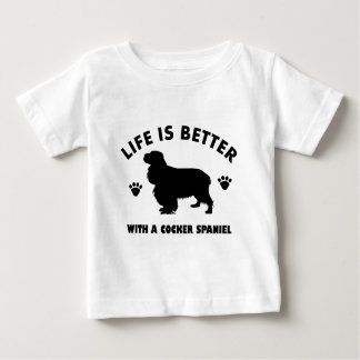 Cocker Spaniel dog design Baby T-Shirt
