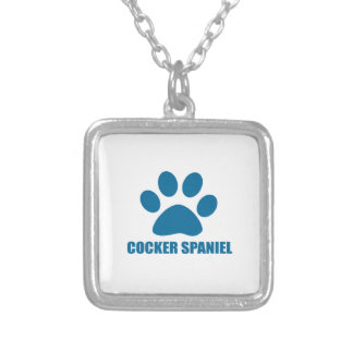 COCKER SPANIEL DOG DESIGNS SILVER PLATED NECKLACE
