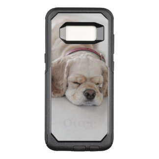 Cocker spaniel dog sleeping OtterBox commuter samsung galaxy s8 case