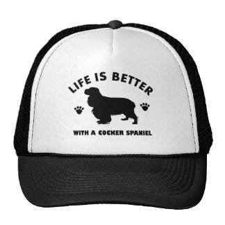 Cocker spaniel dog trucker hat