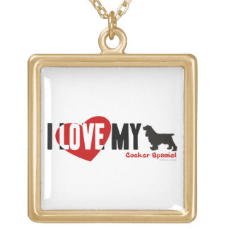 Cocker Spaniel Gold Plated Necklace