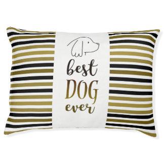 Cocker Spaniel Golden Black Stripes Best Dog Ever Pet Bed