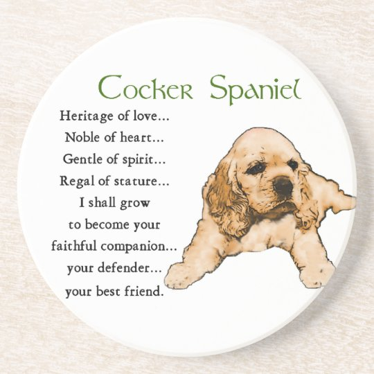 Cocker Spaniel Heritage of Love Coaster