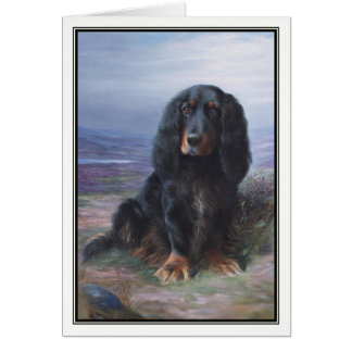 Cocker Spaniel in Highlands by Lilian Cheviot Card