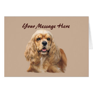 Cocker Spaniel Just Adorable Greeting Card
