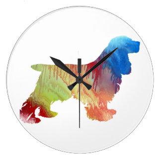Cocker Spaniel Large Clock