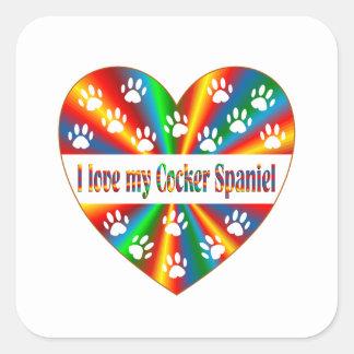 Cocker Spaniel Love Square Sticker