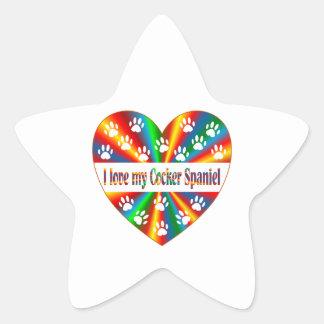 Cocker Spaniel Love Star Sticker