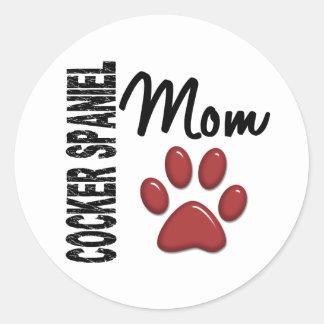 Cocker Spaniel Mom 2 Round Sticker