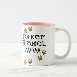 Cocker Spaniel Mom for Dog Moms Two-Tone Coffee Mug