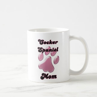 Cocker Spaniel Mom Pink Pawprint  Coffee Mug