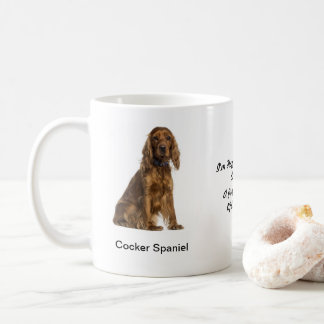 Cocker Spaniel Mug - With two images and a motif