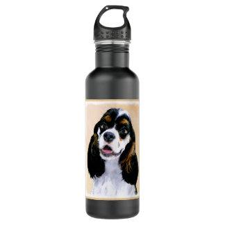 Cocker Spaniel (Parti) Painting - Original Dog Art 710 Ml Water Bottle