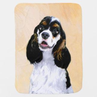Cocker Spaniel (Parti) Painting - Original Dog Art Baby Blanket