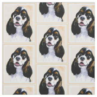 Cocker Spaniel (Parti) Painting - Original Dog Art Fabric