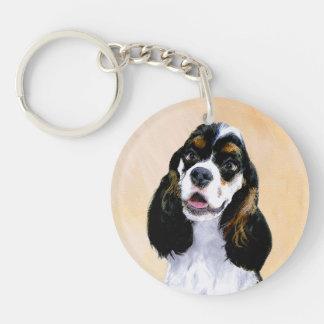 Cocker Spaniel (Parti) Painting - Original Dog Art Keychain