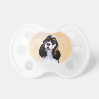 Cocker Spaniel (Parti) Painting - Original Dog Art Pacifier