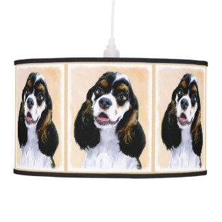 Cocker Spaniel (Parti) Painting - Original Dog Art Pendant Lamp