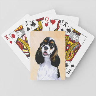 Cocker Spaniel (Parti) Painting - Original Dog Art Playing Cards