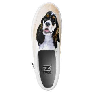 Cocker Spaniel (Parti) Painting - Original Dog Art Slip-On Sneakers