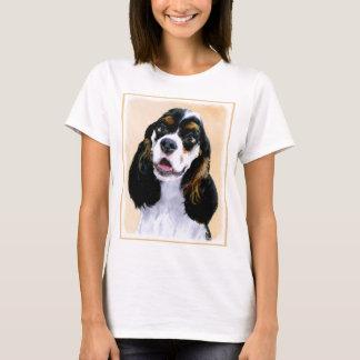 Cocker Spaniel (Parti) Painting - Original Dog Art T-Shirt