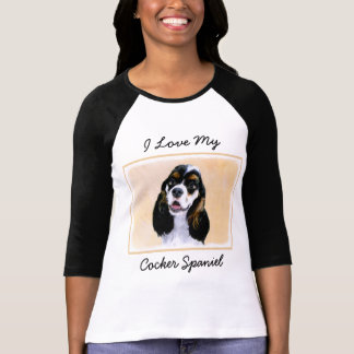 Cocker Spaniel (Parti) Painting - Original Dog Art T-Shirt
