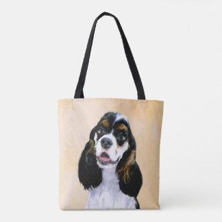 Cocker Spaniel (Parti) Painting - Original Dog Art Tote Bag