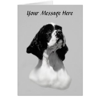 Cocker Spaniel Perfect Face Greeting Card