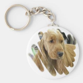 Cocker Spaniel Puppy Dog Keychain