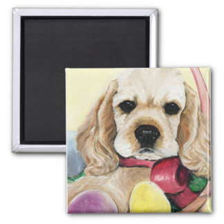 Cocker Spaniel Puppy Easter Magnet