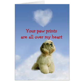 Cocker Spaniel Puppy Love Card