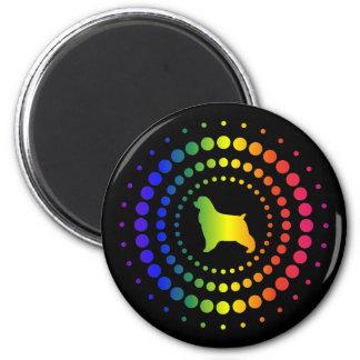 Cocker Spaniel Rainbow Studs Magnet