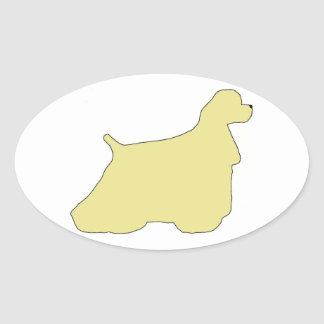Cocker Spaniel silhouette Oval Sticker