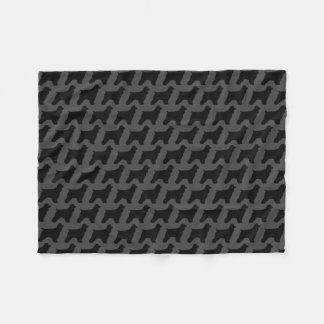 Cocker Spaniel Silhouettes Pattern Fleece Blanket