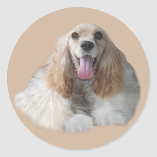 Cocker Spaniel Smiling Sticker