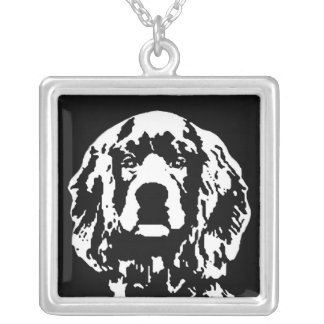 Cocker Spaniel Square Necklace