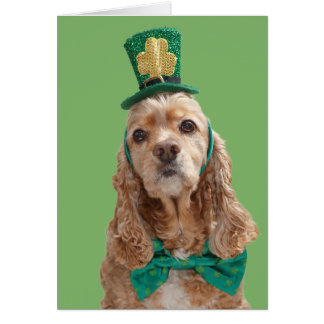 Cocker Spaniel St. Patrick's Day Greeting Card