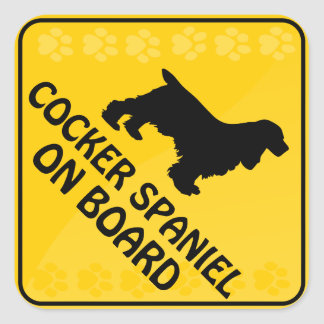 Cocker Spaniel Xing Square Sticker
