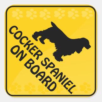 Cocker Spaniel Xing Square Sticker
