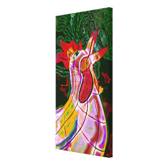 Cockerel Digital Painting Canvas Print