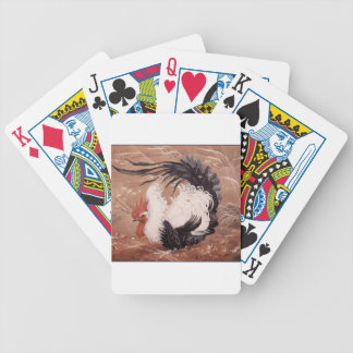 Cockerel in the wind bicycle playing cards