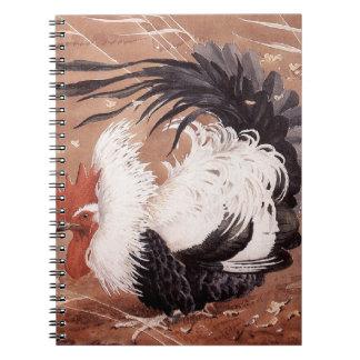 Cockerel in the wind notebook