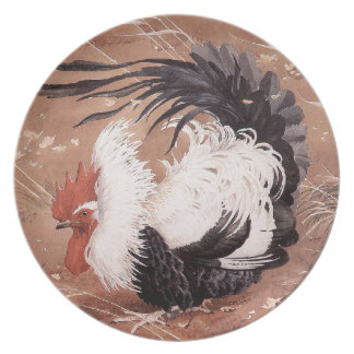 Cockerel in the wind plate