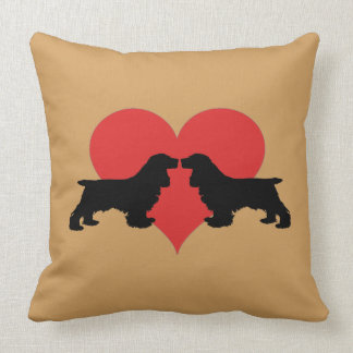 Cockerlove Throw Pillow