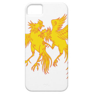 Cockfighting Roosters Cockerel Drawing iPhone 5 Cases